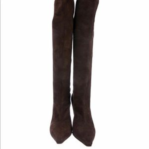 Jimmy Choo Stretch Suede Boots